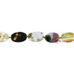 Strang Platten Freeform Ozean-Achat (Chalcedon) 15-17 x 10-14 x 4 mm