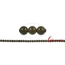 Strang Kugel Obsidian Rauch- A (mit Glanz) 6 mm