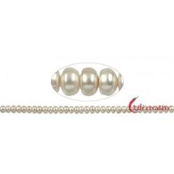 Strang Button Süßwasser-Perle 9-10 mm