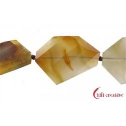 Strang Scheibe Achat (Umbu) grob fac., 40-50 x 25-35 x 10 mm