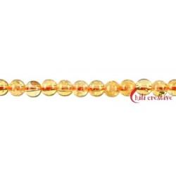 Strang Kugel Citrin AA (erhitzt) 4 mm