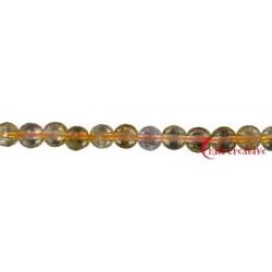 Strang Kugel Citrin (erhitzt) facettiert 12 mm