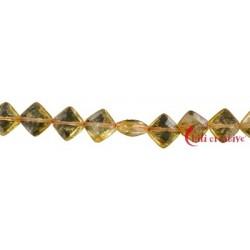 Strang Quader flach Citrin (erhitzt) AA facettiert 10 x 10 mm