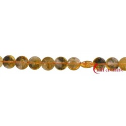 Strang Button flach Citrin (erhitzt) AA 10 mm