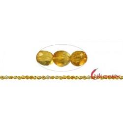 Strang Pebbles Citrin (erhitzt) facettiert 6-10x6 mm