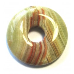 Donut Aragonit-Calcit grün-braun 30 mm