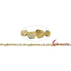 Strang Splitter rundlich Citrin (erhitzt) 5-10 x 5-8 mm