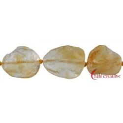 Strang Rohstein flach Citrin (erhitzt) 18-20 x 18-20 x 7-9 mm