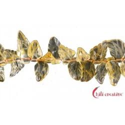 Strang Blatt Citrin (erhitzt) 14-16x24-30x4 mm