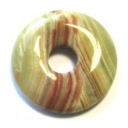 Donut Aragonit-Calcit grün-braun 40 mm