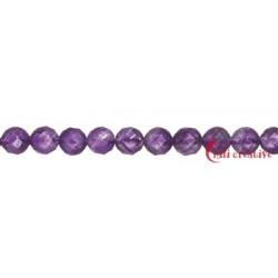 Strang Kugel Amethyst facettiert 8 mm (38 cm)