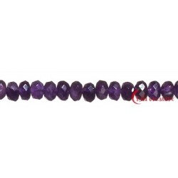Strang Button Amethyst facettiert 8 mm