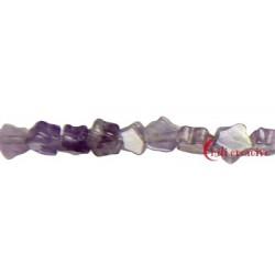 Strang Mini-Stern flach Amethyst 4 mm