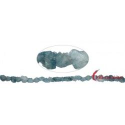 Strang chips Aquamarin (teilw. gefärbt) 5-10 x 4-5 mm