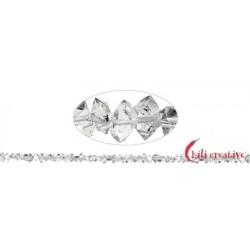 Strang Doppelender Bergkristall (Herkimer-Art Pakistan) natur quer gebohrt 2-4 x 4-7 mm