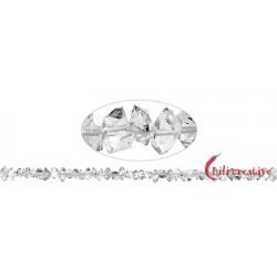 Strang Doppelender Bergkristall (Herkimer-Art Pakistan) natur quer gebohrt 4-5 x 7-12 mm