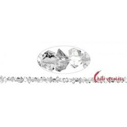Strang Doppelender Bergkristall (Herkimer-Art Pakistan) natur quer gebohrt 5-6 x 9-14 mm