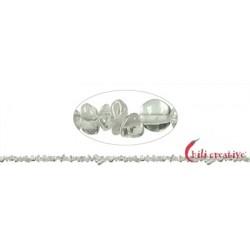 Strang Splitter Bergkristall 1-3 x 3-8 mm 88 cm