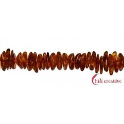 Strang Splitter Bernstein cognac 2-4 x 8-15 mm
