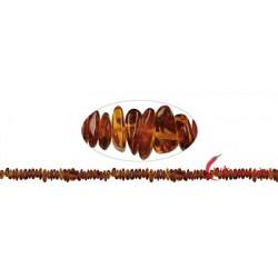 Strang Splitter Bernstein dunkel 6-11 x 5-8 mm