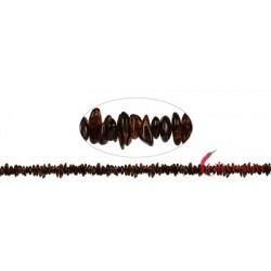 Strang Trommelsteine Bernstein 5-11 x 5 -7 mm