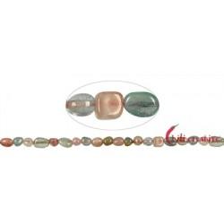 Strang Nuggets flach Beryll (Aquamarin Morganit u.a.) 8-12 x 8-10 x 4-6 mm