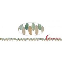 Strang Zahn flach Beryll (Aquamarin/Morganit) 8 x 15-20 mm