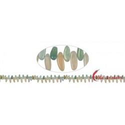 Strang Zahn flach Beryll (Aquamarin/Morganit) 7-10 x 17-20 mm