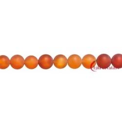 Strang Kugel Carneol (erhitzt) matt 8 mm