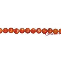 Strang Kugel Carneol (erhitzt) 10 mm