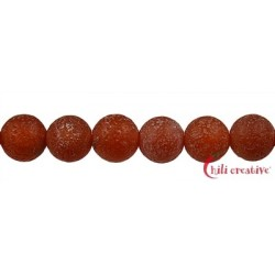 Strang Kugel Carneol (erhitzt) Antik matt 12 mm