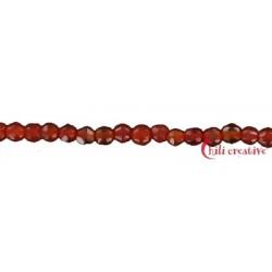 Strang Kugel Carneol (erhitzt) facettiert 2 mm