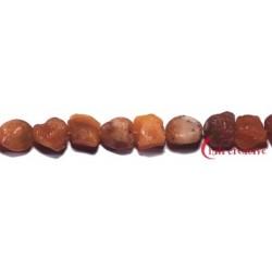 Strang Nugget roh Carneol (erhitzt) 12-15 mm