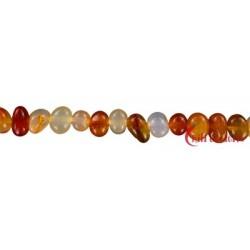 Strang Nuggets pebbles Carneol 7x9-12 mm
