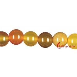 Strang Kugel Carneol gelb-orange (erhitzt) 10 mm