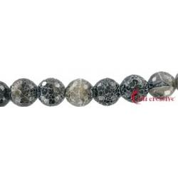 Strang Kugel Onyx (gefärbt) gefurcht facettiert 16 mm