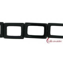 Strang Rahmen Onyx (gefärbt) 34x24x4 mm