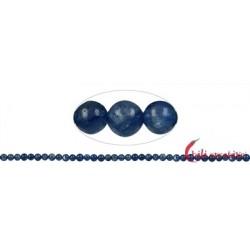 Strang Kugel Disthen (blau) AA 4 mm