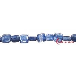 Strang Quader gerundet Disthen (blau) 6 x 6 mm