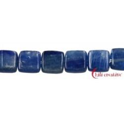 Strang Rechteck flach Disthen (blau) AA 8 x 8 mm