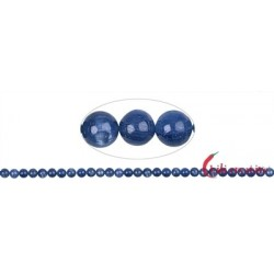 Strang Kugeln Disthen (blau) 6 mm