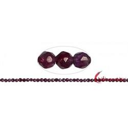 Strang Kugel Granat violett facettiert 3mm