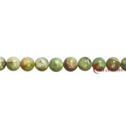 Strang Kugel Granat grün (Grossular) 10 mm
