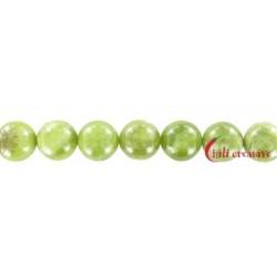 Strang Kugel Granat grün (Grossular) 12 mm