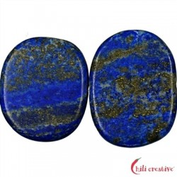 Strang Platten Freeform Lapis Lazuli AA matt 25-28 x 34-40 x 6 mm