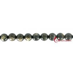 Strang Kugel Muskovit-Glimmer (stab.) facettiert 10 mm