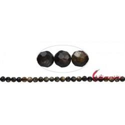 Strang Kugel Muskovit-Glimmer (stab.) facettiert 8 mm