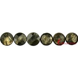 Strang Coin Muskovit Glimmer (stab.) facettiert Davidstern 12 mm