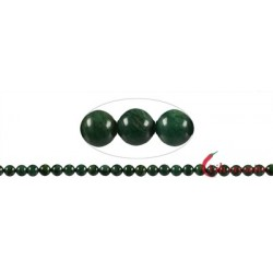 Strang Kugel Budstone (Grünschiefer) 8 mm