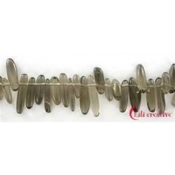 Strang Nuggets Zahn Rauchquarz 3-5x12-25 mm